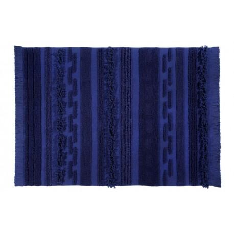 lorena canals tapis bleu cobalt coton Rug Air Alaska Blue 140 x 200 cm