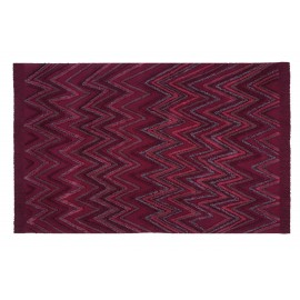 Tapis coton rouge bordeaux franges Lorena Canals Earth 170 x 240 cm
