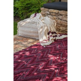 lorena canals tapis earth rouge bordeaux C-EARTH-SAVR 170 x 240 cm
