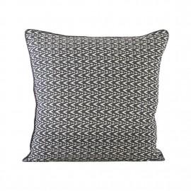 house doctor dotzag housse de coussin motifs gris 50 x 50 cm