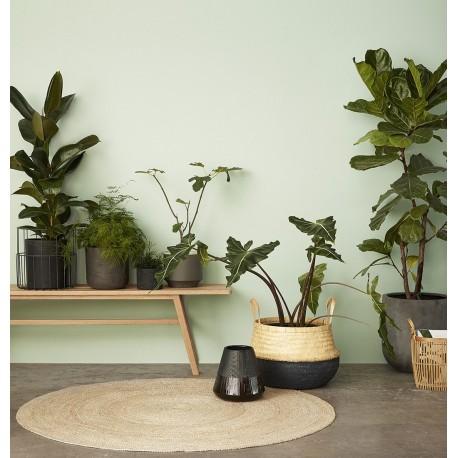 hubsch tapis rond en jute naturelle 150 cm 190601. Black Bedroom Furniture Sets. Home Design Ideas