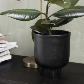 house doctor jang cache pot design noir metal alu Is0811