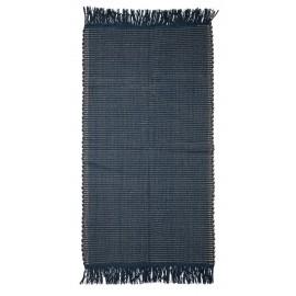 Tapis descente de lit bleu coton Bloomingville