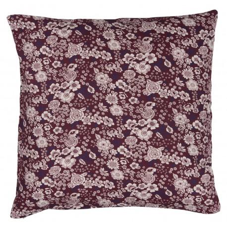 ib laursen plum housse de coussin fleurie prune 50 x 50 cm 1901-53