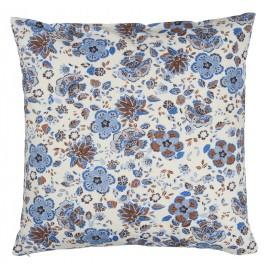 ib laursen housse de coussin fleurs bleues 50 x 50 cm 1902-26