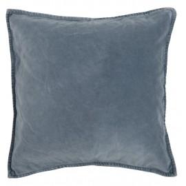 ib laursen housse de coussin velours bleu vintage 50 x 50 cm 6230-13