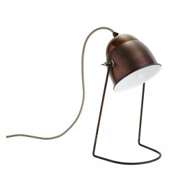 Lampe de bureau rétro vintage métal bronze laiton