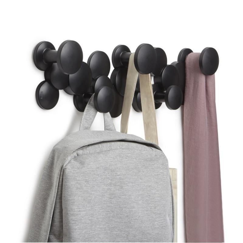 umbra bubble porte manteau mural patere design noir 1010187 040. Black Bedroom Furniture Sets. Home Design Ideas