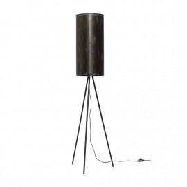 hubsch lampadaire design metal perforé noir laiton 990724