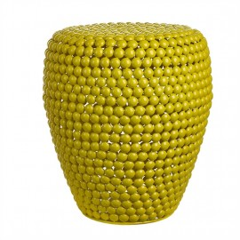 pols potten dot tabouret jaune design metal 300-030-061
