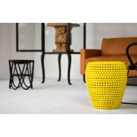 pols potten dot tabouret jaune design metal 300-030-061