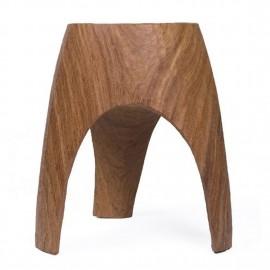 pols potten 3 legs tabouret bois sculpte a la main 500-030-006