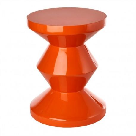 tabouret zig zag pols potten orange 510-070-071
