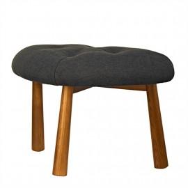Tabouret textile gris bois Pols Potten Pebble