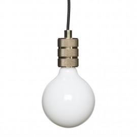 Suspension minimaliste ampoule métal laiton Hübsch