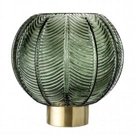 bloomingville vase boule verre vert laiton 30704816