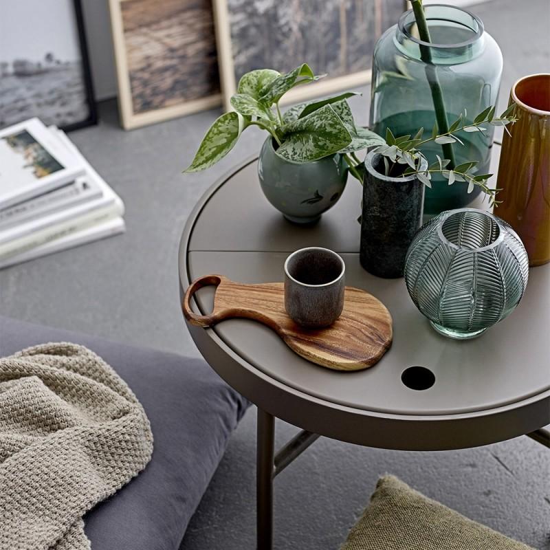 Bloomingville Vase Boule Verre Vert Laiton 30704816 Kdesign