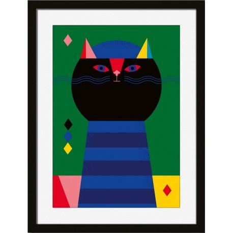 miho le musicien affiche cadre chat Printl-481n