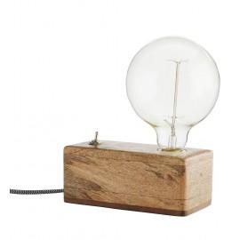 madam stoltz lampe a poser rustique bois de manguier EUWB-2770