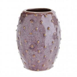 Petit vase forme figue de barbarie grès Madam Stoltz mauve
