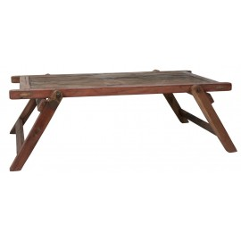 Table basse bois lit militaire vintage d'occasion IB Laursen Unique