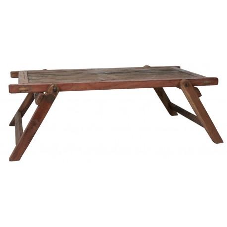 Table basse bois lit militaire rustique pliable IB Laursen Unique