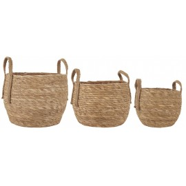 ib laursen set de 3 paniers tresses seagrass naturel 1687-30