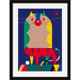 miho heads or tails illustration chat multicolore printl-482n