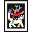 miho circus affiche dessin naif chat cadre noir printl-488n