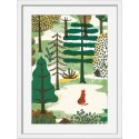 miho meditation tableau decoratif chat cadre blanc printl-487b
