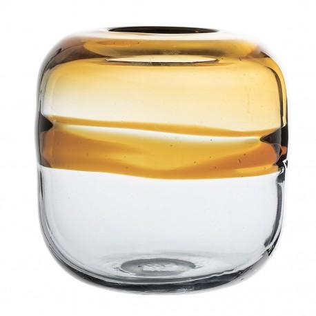 Vase verre soufflé bicolore Bloomingville Brown
