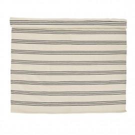 Tapis coton rayures noir blanc Bloomingville