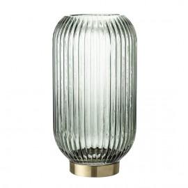 bloomingville vase verre vert metal doree forme lanterne 23602627