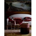bloomingville lucca table basse ronde verre fume marron metal dore laiton 87306443