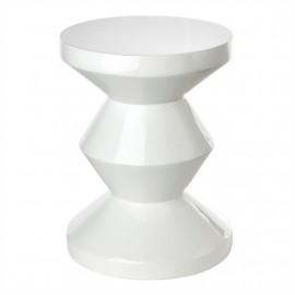Tabouret design blanc Pols Potten Zig Zag