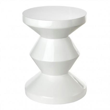 pols potten zig zag tabouret blanc 510-070-013
