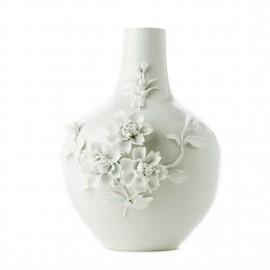pols potten vase 3d rose blanc porcelaine 230-205-078