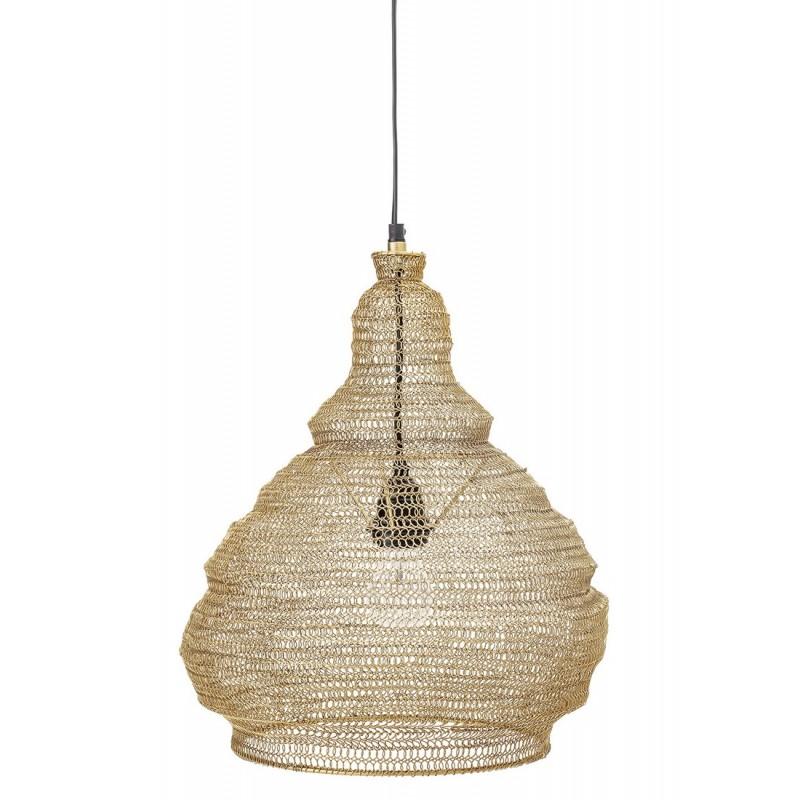 bloomingville suspension en maille fil de fer dore 82041362 kdesign. Black Bedroom Furniture Sets. Home Design Ideas