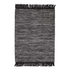 bloomingville tapis gris laine franges 32703176