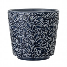 bloomingville pot de fleur gres bleu decoratif 25603362