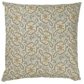 ib laursen housse de coussin carree fleurs bleu marron 1906-46
