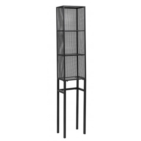 nordal etagere a poser etroite industrielle 3 tablettes metal perfore