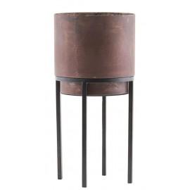 house doctor nian cache pot sur pied metal acier rouille