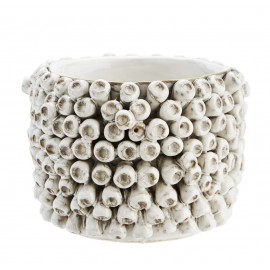 madam stoltz cache pot pour succulente ceramique relief artisanal