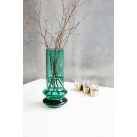 Vase verre tube design House Doctor Forms vert