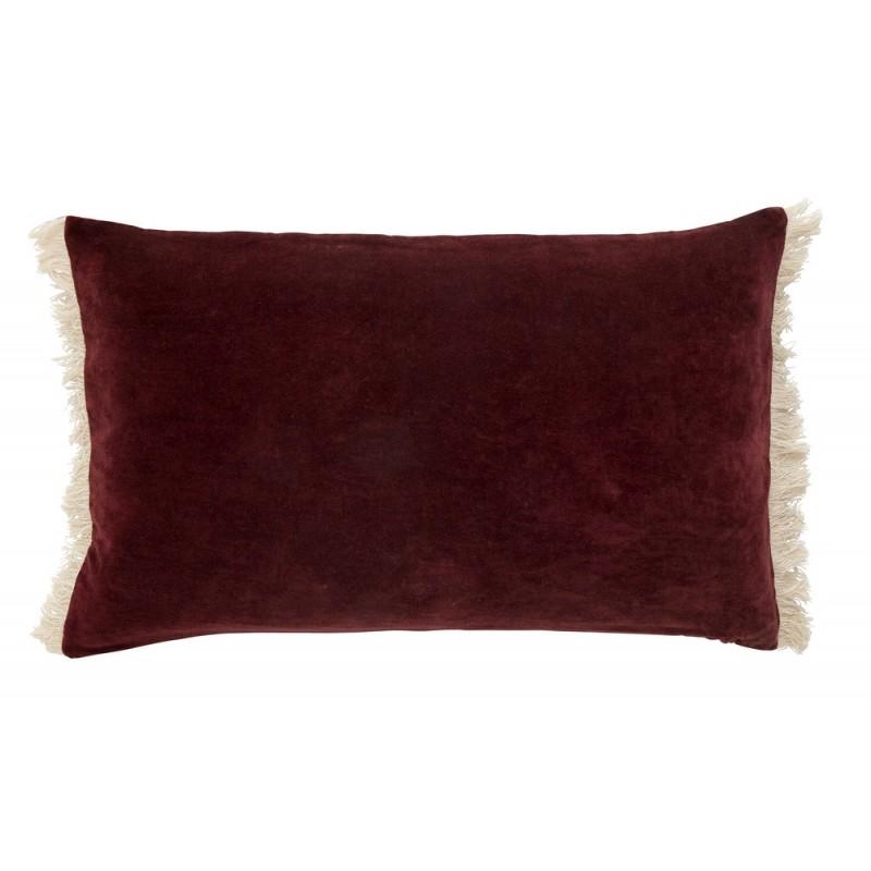 nordal housse de coussin velours rectangulaire rouge. Black Bedroom Furniture Sets. Home Design Ideas
