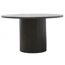Table ronde pied central bois de manguier House Doctor Pillar