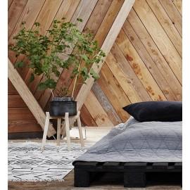 madam stoltz tapis coton blanc ecru motif etnique 120 x 180 cm
