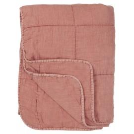 ib laursen courtepointe matelassee coton rose uni poudre 6208-64