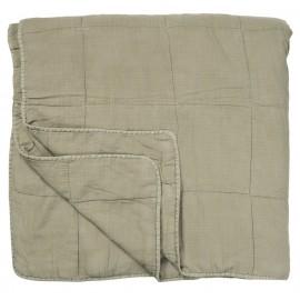 Couvre-lit boutis coton matelassé vert kaki IB Laursen